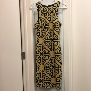 Lumiere swirl racer cut print dress